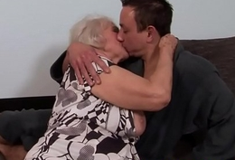 Chunky granny gets the brush ass rimmed and fucked