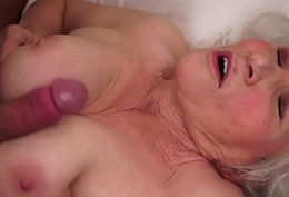 Cocksucking granny tittyfucked wits obese cock