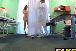 Fake Infirmary Tall subfusc in the event that with broad in the beam natural tits swallows docs cum