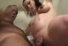 Busty eloquent sunless gets screwed off out of one's mind and older guy-3
