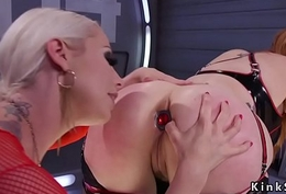 Broad in the beam ass lesbians anal toying