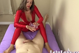 Must feminine gives you handjob coupled with footjob until you cum