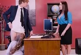 Hot Sex In Post With Broad in the beam Round Special Girl (Angela White &amp_ Lena Paul) video-03