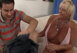 Granny Mandy McGraw seduces caitiff public schoolmate