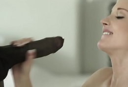 Euro cut up gets her cunt fucked at the end of one's tether blackguardly cock