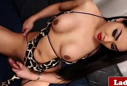 Masturbating oriental ghetto-blaster jerks the brush flannel